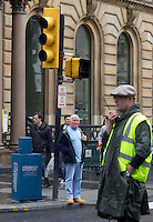 War Z Film film set in Glasgow as the props go up in Glasgow's George Square as filming starts on the Brad Pitt's new film..Picture: Universal News And Sport (Scotland). 16 August 2011. www.unpixs.com..