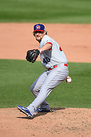 Buffalo Bisons pitcher Austin Bibens-Dirkx (40) delivers a pitch during the first game of a doubleheader against the Rochester Red Wings on July 6, 2014 at Frontier Field in Rochester, New  York.  Rochester defeated Buffalo 6-1.  (Mike Janes/Four Seam Images)
