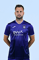 30th July 2020, Turbize, Belgium;   Antonio Milic of Anderlecht pictured during the team photo shoot of RSC Anderlecht prior the Jupiler Pro league football season 2020 - 2021 at Tubize training Grounds.