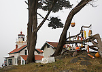 Battery Point Lighthouse as it looks today.  Battery Point was an early hazard to shipping, primarily lumber, from Crescent City, CA.  The lighthouse, lit in 1856, was one of the earliest on the coast.  Crescent City sits along the famous Del Norte Coast of CA.