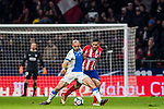 Nourredine Amrabat (L) of CD Leganes battles for the ball with Jorge Resurreccion Merodio, Koke, of Atletico de Madrid during the La Liga 2017-18 match between Atletico de Madrid and CD Leganes at Wanda Metropolitano on February 28 2018 in Madrid, Spain. Photo by Diego Souto / Power Sport Images