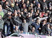 SWANSEA, WALES - FEBRUARY 21: Swansea supporters cheer their team on during the Barclays Premier League match between Swansea City and Manchester United at Liberty Stadium on February 21, 2015 in Swansea, Wales.