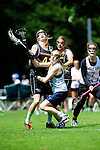 BERLIN, GERMANY - JUNE 21: Match of Team Germany (black) vs BL South (white) during the Berlin Open Lacrosse Tournament 2013 at Stadion Lichterfelde on June 21, 2013 in Berlin, Germany. Final score 25-2. (Photo by Dirk Markgraf/www.265-images.com) *** Local caption *** #41 Tessa Helf of Germany, #30 Anna Blank of Germany