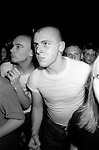 Skinhead Jimmy John in Camden Town at The Electric Ballroom  dancing to UB40.   London 1980.<br /> <br />  The British reggae pop band took their name from the Unemployment Benefit, Form 40. The UB40 form no longer exists.