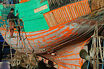 Boat on dry dock, Essaouira, Morocco