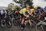 Race leader Primoz Roglic (SLO) Team Jumbo-Visma during Stage 2 of the Itzulia Basque Country 2021, running 154.8km from Zalla to Sestao, Spain. 6th April 2021.  <br /> Picture: Luis Angel Gomez/Photogomezsport   Cyclefile<br /> <br /> All photos usage must carry mandatory copyright credit (© Cyclefile   Luis Angel Gomez/Photogomezsport)