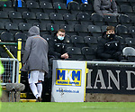 13.12.2020 Dundee Utd v Rangers: Alfredo Morelos kicks the board on the door after he is subbed