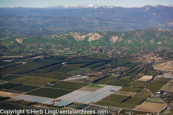 aerial photograph agriculture, Ventura County, California