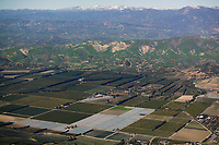 aerial photograph agriculture, Ventura County, California