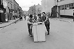 Toxteth Liverpool after riots. July 1981.