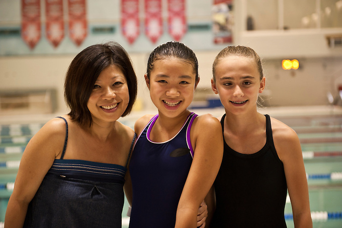 """3/12/2012 - (from left to right) Carmen Sheng, daughter Cassidy Sheng, and friend Meghan are featured in a photoshoot for the Canadian Paralympic Committee Recruitment Ad Campaign entitled """"It's More Than Sport"""". Photo Credit: Canadian Paralympic Committee/Frédéric Solenthaler"""
