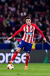 Jose Maria Gimenez de Vargas of Atletico de Madrid in action during the UEFA Europa League 2017-18 Round of 16 (1st leg) match between Atletico de Madrid and FC Lokomotiv Moscow at Wanda Metropolitano  on March 08 2018 in Madrid, Spain. Photo by Diego Souto / Power Sport Images