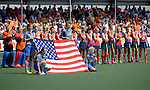 The Hague, Netherlands, June 08: Before the field hockey group match (Women - Group B) between USA and Germany on June 8, 2014 during the World Cup 2014 at GreenFields Stadium in The Hague, Netherlands. Final score 4-1 (1-0) (Photo by Dirk Markgraf / www.265-images.com) *** Local caption ***