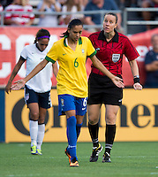 Andressa, Margaret Domka.  The USWNT defeated Brazil, 4-1, at an international friendly at the Florida Citrus Bowl in Orlando, FL.