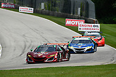 IMSA WeatherTech SportsCar Championship<br /> Continental Tire Road Race Showcase<br /> Road America, Elkhart Lake, WI USA<br /> Sunday 6 August 2017<br /> /w86, 93, Acura, Acura NSX, GTD, Andy Lally, Katherine Legge<br /> World Copyright: Richard Dole<br /> LAT Images<br /> ref: Digital Image RD_RA_2017_184
