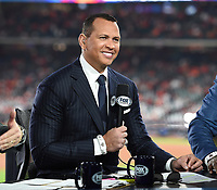 HOUSTON - OCTOBER 29: Alex Rodriguez at World Series Game 6: Washington Nationals at Houston Astros on Fox Sports at Minute Maid Park on October 29, 2019 in Houston, Texas. (Photo by Frank Micelotta/Fox Sports/PictureGroup)
