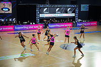 Action from the Cadbury Netball Series match between NZ A and NZ Under-21 at the Fly Palmy Arena in Palmerston North, New Zealand on Thursday, 22 October 2020. Photo: Dave Lintott / lintottphoto.co.nz