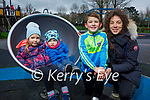 Chloe, Alex, Matthew and Christa Roche enjoying the playground in the Tralee town park on Saturday.