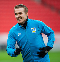 21st November 2020; Bet365 Stadium, Stoke, Staffordshire, England; English Football League Championship Football, Stoke City versus Huddersfield Town; Danny Ward of Huddersfield Town during the warm up