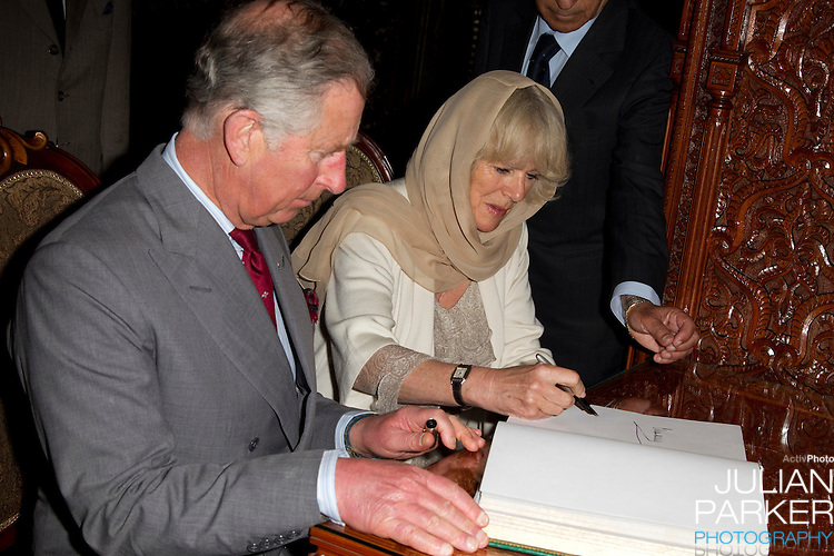 The Prince of Wales, and The Duchess of Cornwall begin a three day official visit to Morocco..Visit To The Mausoleum of Mohammed V, in Rabat