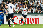 Tottenham Hotspur Forward Heung-Min Son (R) in action during the Friendly match between Kitchee SC and Tottenham Hotspur FC at Hong Kong Stadium on May 26, 2017 in So Kon Po, Hong Kong. Photo by Man yuen Li  / Power Sport Images