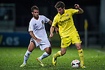 (R) Moi Gomez of Villarreal CF followed by (L) Juan Bernat of Valencia CF during LFP World Challenge 2014 between Valencia CF vs Villarreal CF on May 28, 2014 at the Mongkok Stadium in Hong Kong, China. Photo by Victor Fraile / Power Sport Images