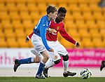 St Johnstone Academy v Manchester United Academy....17.04.15   <br /> Jamie Docherty and Angel Gomes<br /> Picture by Graeme Hart.<br /> Copyright Perthshire Picture Agency<br /> Tel: 01738 623350  Mobile: 07990 594431