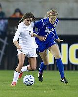 Duke University plays Wake Forest University in the NCAA Women's Final Four at Kennesaw State University.  Duke won 4-1.