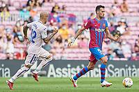 29th August 2021; Nou Camp, Barcelona, Spain; La Liga football league, FC Barcelona versus Getafe; Sergio Busquets of FC Barcelona
