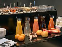 Frühstücksbuffet im Hotel Riva, Seestr. 25, Konstanz, Baden-Württemberg, Deutschland, Europa<br /> Breakfast, Restaurant of  Hotel Riva, Seestr. 25, Constance, Baden-Württemberg, Germany, Europe