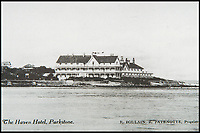 BNPS.co.uk (01202 558833)<br /> Pic: BNPS<br /> <br /> Postcard of the haven Hotel on Sandbanks, Poole from the 1930's.<br /> <br /> Over 6,200 letters of objection have been lodged against controversial plans to replace a historic hotel with a 'soulless' block of flats at a millionaire's playground.<br /> <br /> The well-heeled residents of Sandbanks are up in arms about the £250million development which would see the Haven Hotel at the entrance to Poole Harbour in Dorset bulldozed.<br /> <br /> The 141-year-old building is where engineer Guglielmo Marconi established the world's first wireless communications. Under the plans, it would be replaced with a six-storey block of 119 luxury apartments.