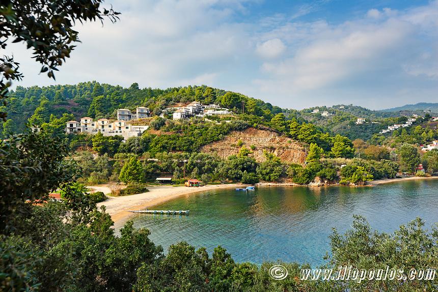 The beach Tzaneria of Skiathos island, Greece