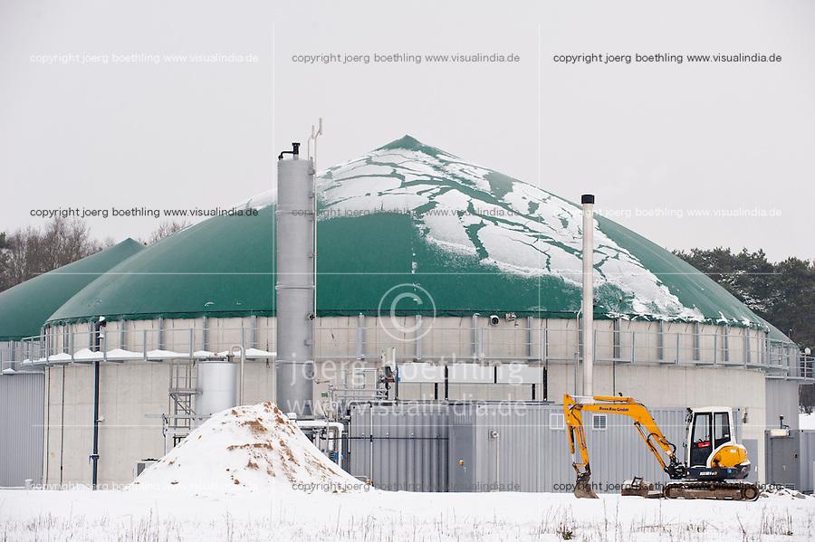 Deutschland, Niedersachsen, Zesen, Biogasanlagenhersteller MT Energie, Betriebe aus der Branche der erneuerbare Energie sind ein Jobmotor und schaffen viele neue Arbeitsplaetze, Bio-Methan Anlage / Germany GER , Biogas plant manufacturer MT Energy, biomethane biogas plant