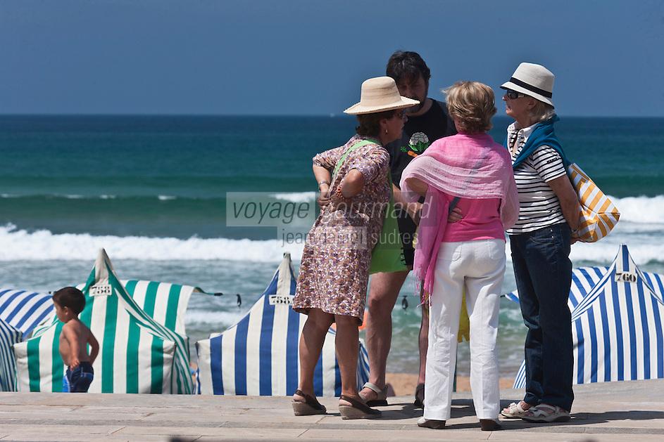 Europe/Espagne/Pays Basque/Guipuscoa/Pays Basque/Zarautz: La plage de Zarautz [Non destiné à un usage publicitaire - Not intended for an advertising use]
