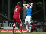 St Johnstone v Aberdeen…13.12.17…  McDiarmid Park…  SPFL<br />Steven MacLean reacts to a missed chance<br />Picture by Graeme Hart. <br />Copyright Perthshire Picture Agency<br />Tel: 01738 623350  Mobile: 07990 594431