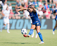 CARY, NC - SEPTEMBER 12: Debinha #10 of the NC Courage tries to control the ball during a game between Portland Thorns FC and North Carolina Courage at Sahlen's Stadium at WakeMed Soccer Park on September 12, 2021 in Cary, North Carolina.