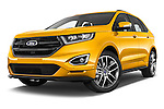 Stock pictures of low aggressive front three quarter view of 2017 Ford Edge Sport-4wd 5 Door Suv Low Aggressive