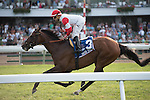 July 05 2015: Big Blue Kitten with Joe Bravo win the Grade I United Nations Stakes for 3-year olds & up, going 1 3/8 on the turf, at Monmouth Park.  Trainer Chad Brown. Owner Kenneth & Sarah Ramsey. Samantha Bussanich/ESW/CSM