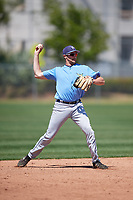 Tampa Bay Rays Zach Rutherford (14) warms up before a Minor League Spring Training game against the Minnesota Twins on March 17, 2018 at CenturyLink Sports Complex in Fort Myers, Florida.  (Mike Janes/Four Seam Images)