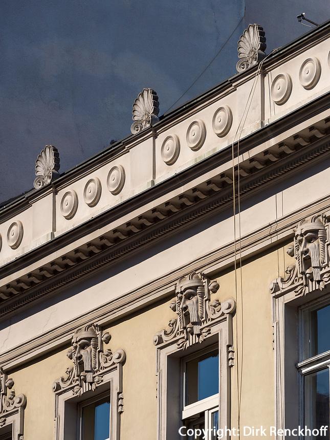 Jugendstil, Fußgängerzone Knez Mihailova -Prinz-Michael-Straße, Belgrad, Serbien, Europa<br /> Art Nouveau, pedestrian area Knez Mihailova, Belgrade, Serbia, Europe