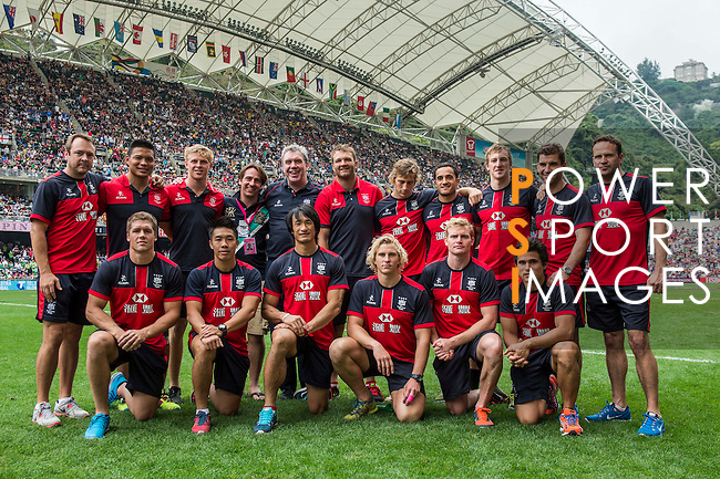 XXX plays XXX during the Cathay Pacific / HSBC Hong Kong Sevens at the Hong Kong Stadium on 30 March 2014 in Hong Kong, China. Photo by Juan Flor / Power Sport Images