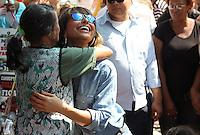 """SÃO PAULO,SP, 24.04.2015 - SABRINA SATO/GRAVAÇÃO - A apresentadora Sabrina Sato é vista durante gravação do """"Programa da Sabrina"""" na av. Benedito de Andrade em Pirituba região oeste de São Paulo, nesta sexta-feira, 24.  (Marcio Ribeiro / Brazil Photo Press)."""