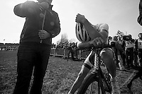 111th Paris-Roubaix 2013..a very disapointed Sep Vanmarcke (BEL) after loosing Paris-Roubaix by a couple of inches .
