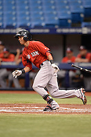 Boston Red Sox infielder Mauricio Dubon (7) during an Instructional League game against the Tampa Bay Rays on September 25, 2014 at Tropicana Field in St. Petersburg, Florida.  (Mike Janes/Four Seam Images)