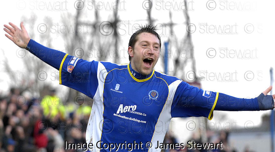 08/03/2008    Copyright Pic: James Stewart.File Name : sct_jspa12_qots_v_dundee.STEPHEN DOBBIE CELEBRATES AFTER HE SCORES THE FIRST.James Stewart Photo Agency 19 Carronlea Drive, Falkirk. FK2 8DN      Vat Reg No. 607 6932 25.Studio      : +44 (0)1324 611191 .Mobile      : +44 (0)7721 416997.E-mail  :  jim@jspa.co.uk.If you require further information then contact Jim Stewart on any of the numbers above........