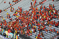 Belgische Fans in der Arena<br /> - Muenchen 02.07.2021: Italien vs. Belgien, Viertelfinale, Allianz Arena Muenchen, Euro2020, emonline, emspor, Playoffs, Quarterfinals<br /> <br /> Foto: Marc Schueler/Sportpics.de<br /> Nur für journalistische Zwecke. Only for editorial use. (DFL/DFB REGULATIONS PROHIBIT ANY USE OF PHOTOGRAPHS as IMAGE SEQUENCES and/or QUASI-VIDEO)