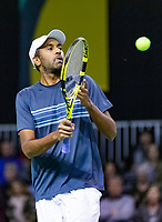 Rotterdam, The Netherlands, 12 Februari 2019, ABNAMRO World Tennis Tournament, Ahoy, first round doubles: Rajeev Ram (USA),<br /> Photo: www.tennisimages.com/Henk Koster
