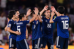 Players of Japan celebrating after winning the AFC Asian Cup UAE 2019 Semi Finals match between I.R. Iran (IRN) and Japan (JPN) at Hazza Bin Zayed Stadium  on 28 January 2019 in Al Alin, United Arab Emirates. Photo by Marcio Rodrigo Machado / Power Sport Images