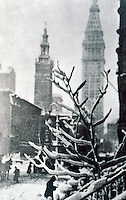 """New York City: """"Two Towers"""", Stieglitz. METROPOLITAN MUSEUM, NEW YORK. Reference only."""