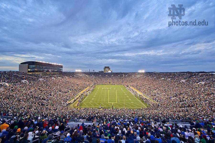 Nov. 3, 2012; Notre Dame Stadium during the Pitt game, 2012...Photo by Matt Cashore/University of Notre Dame